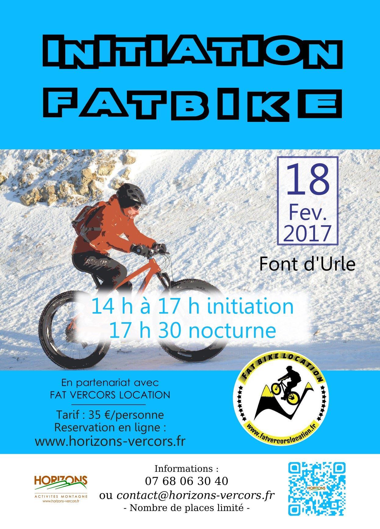 Samedi 20 février - Initiation Fatbike - Affiche image