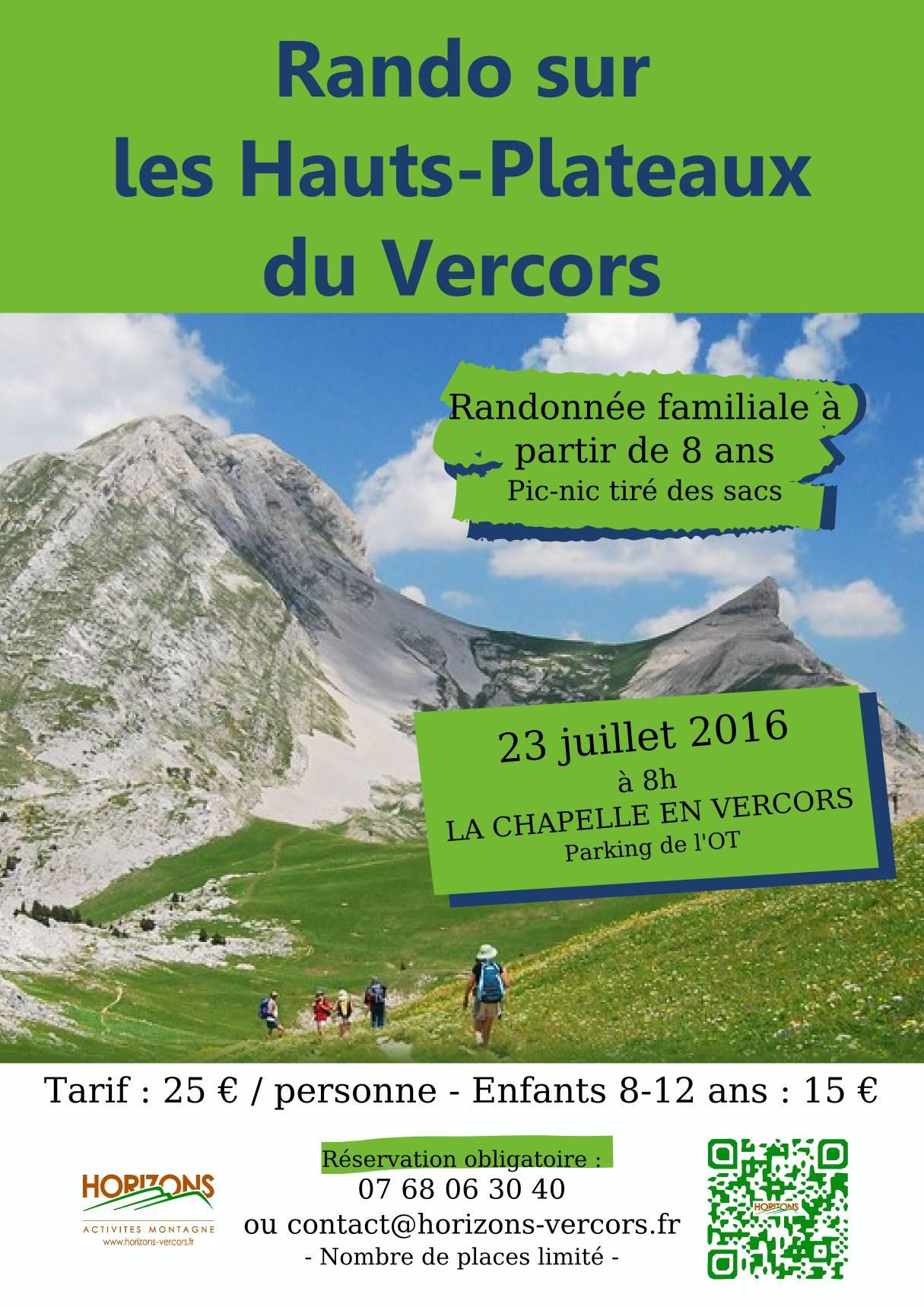 Randonnée Hauts-Plateaux du Vercors