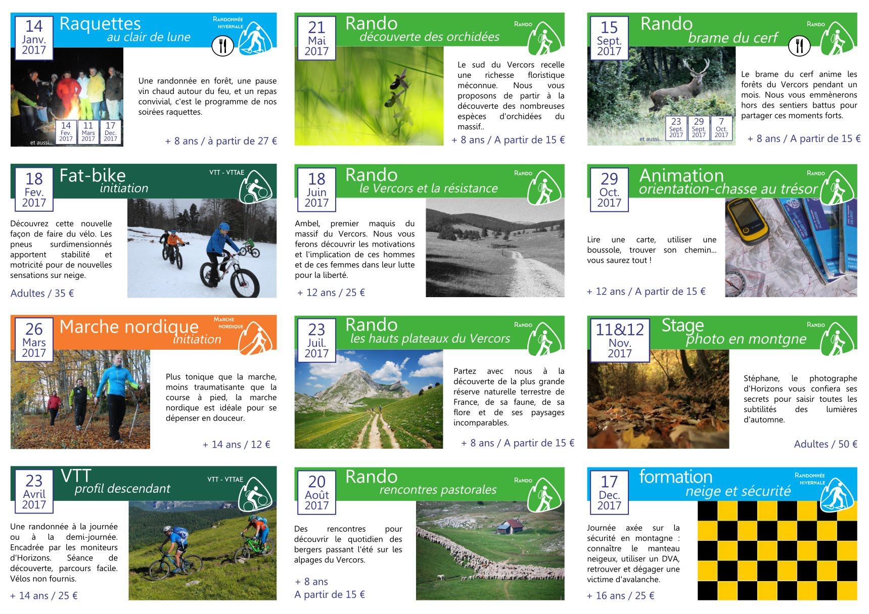 Horizons programme annuel